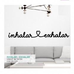 Vinilo decorativo Inhalar - Exhalar