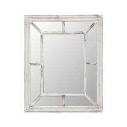 Espejo rectangular vintage ventana blanco gastado