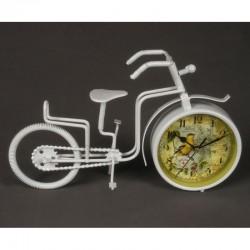 20% DTO. Reloj vintage bici de metal con macetero