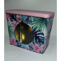 Lata rectangular con visor hojas y flores Wild and Free