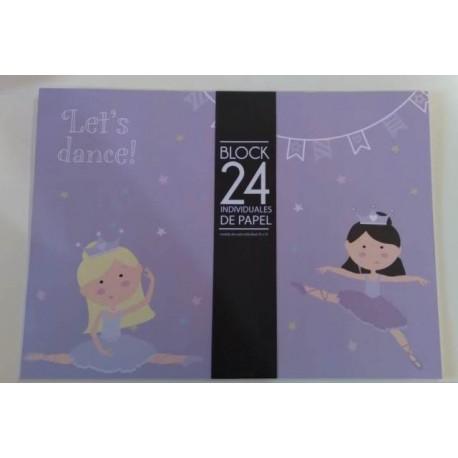 20% DTO. Block de individual de papel estampado Princess x 24 unidades