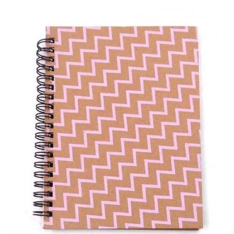Cuaderno tapa dura estampado surtido - hojas lisas