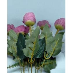Flor artificial ramo rosas violeta vintage