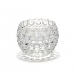 Porta vela bocha de vidrio con burbujas
