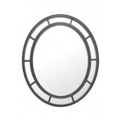 Espejo oval negro con divisiones