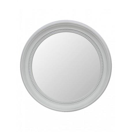 Espejo redondo blanco