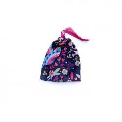 Bolsa chica de tela estampada - Colibri
