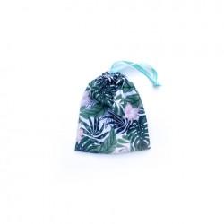 1- Bolsa chica de tela estampada - Botanico Surido