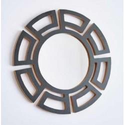 1- Espejo Azteca negro - 50cm diametro