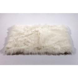 Alfombra pelo largo blanco 50x80cm