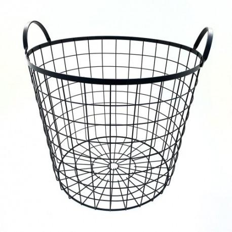 1- Canasto de hierro redondo 38x39cm