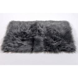 Alfombra pelo largo gris oscuro 50x80cm