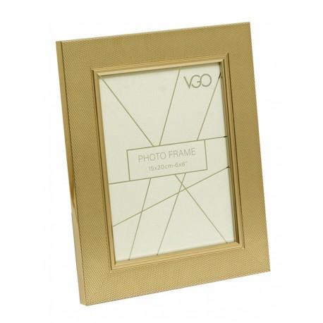 Portaretrato metalico dorado - 20X25CM