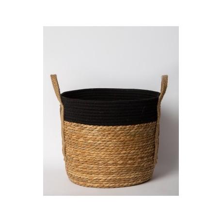 Canasto de fibra negro Grande 35x30cm
