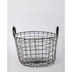Canasto de metal negro rustico 28x19cm