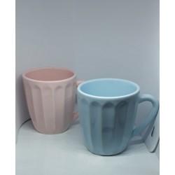 Mug de ceramica color pastel surtidas