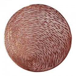 Individual de PVC cobre calado circulos